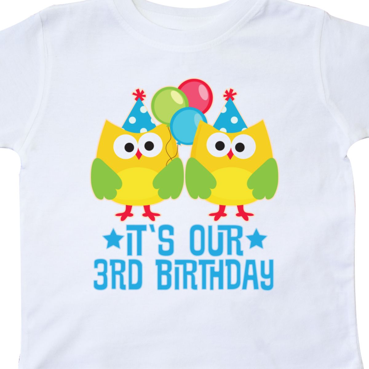Inktastic 3rd Birthday Twins Party Photo Owl Toddler