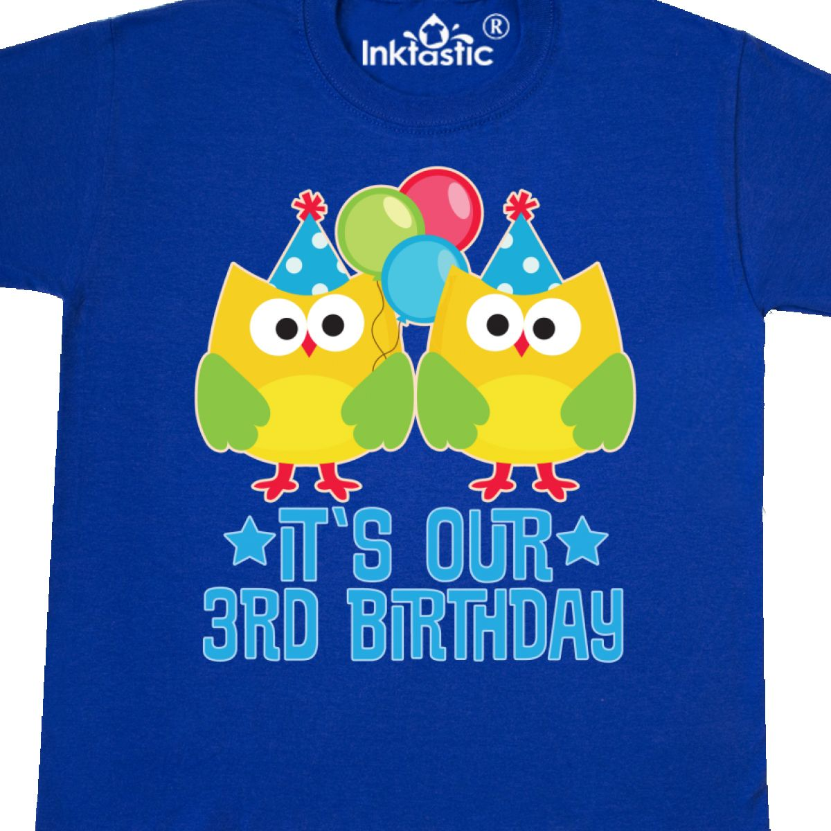 Details About Inktastic 3rd Birthday Twins Party Photo Owl Youth T Shirt 3 Year Old Twin Boy