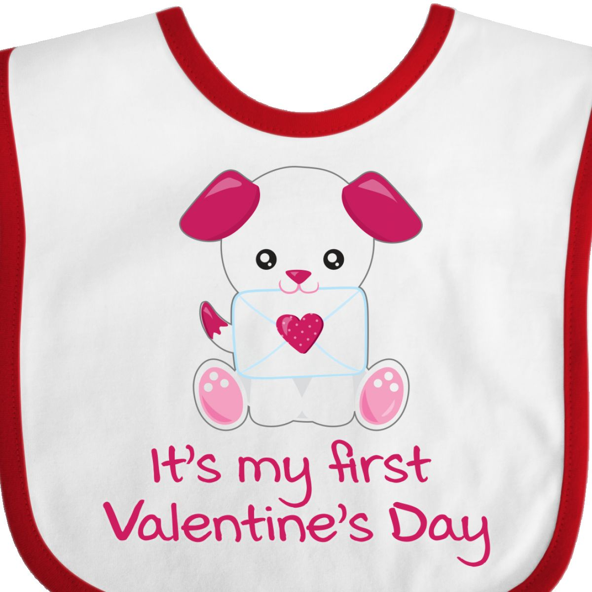 a4421030f93e Inktastic Valentine's Day Pink & White Puppy Dog With Love Letter ...