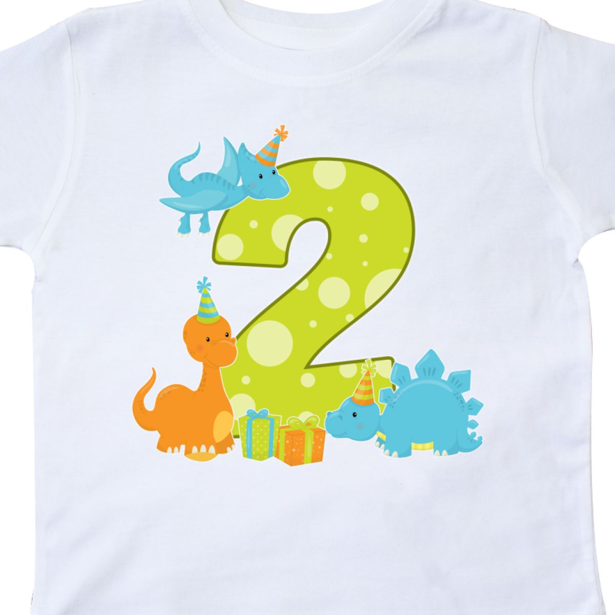 Inktastic Dinosaur Party Second Birthday Toddler T Shirt