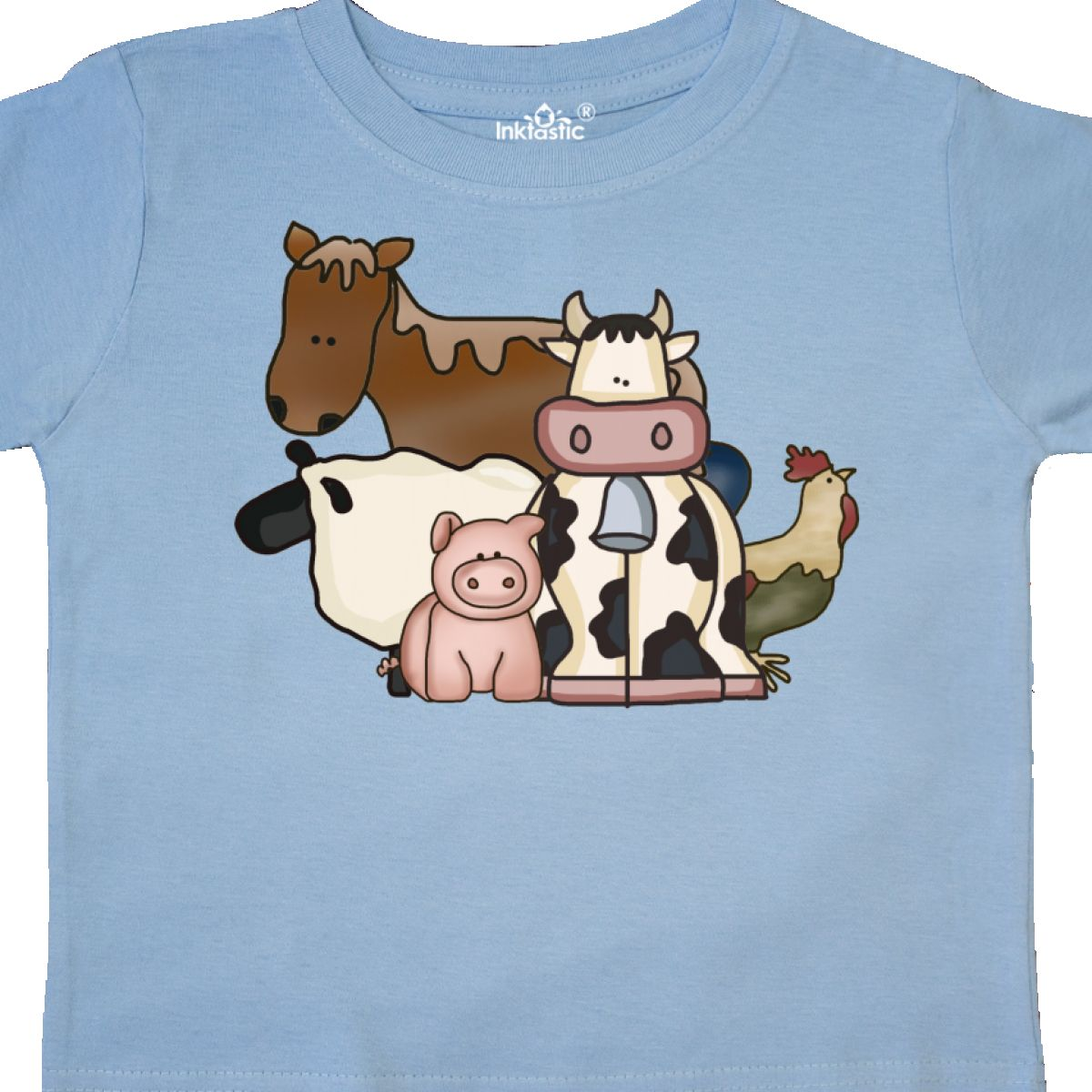 Inktastic-Critters-Toddler-T-Shirt-Horse-Sheep-Cow-Chicken-Pig-Farm-Animals-Gift thumbnail 20