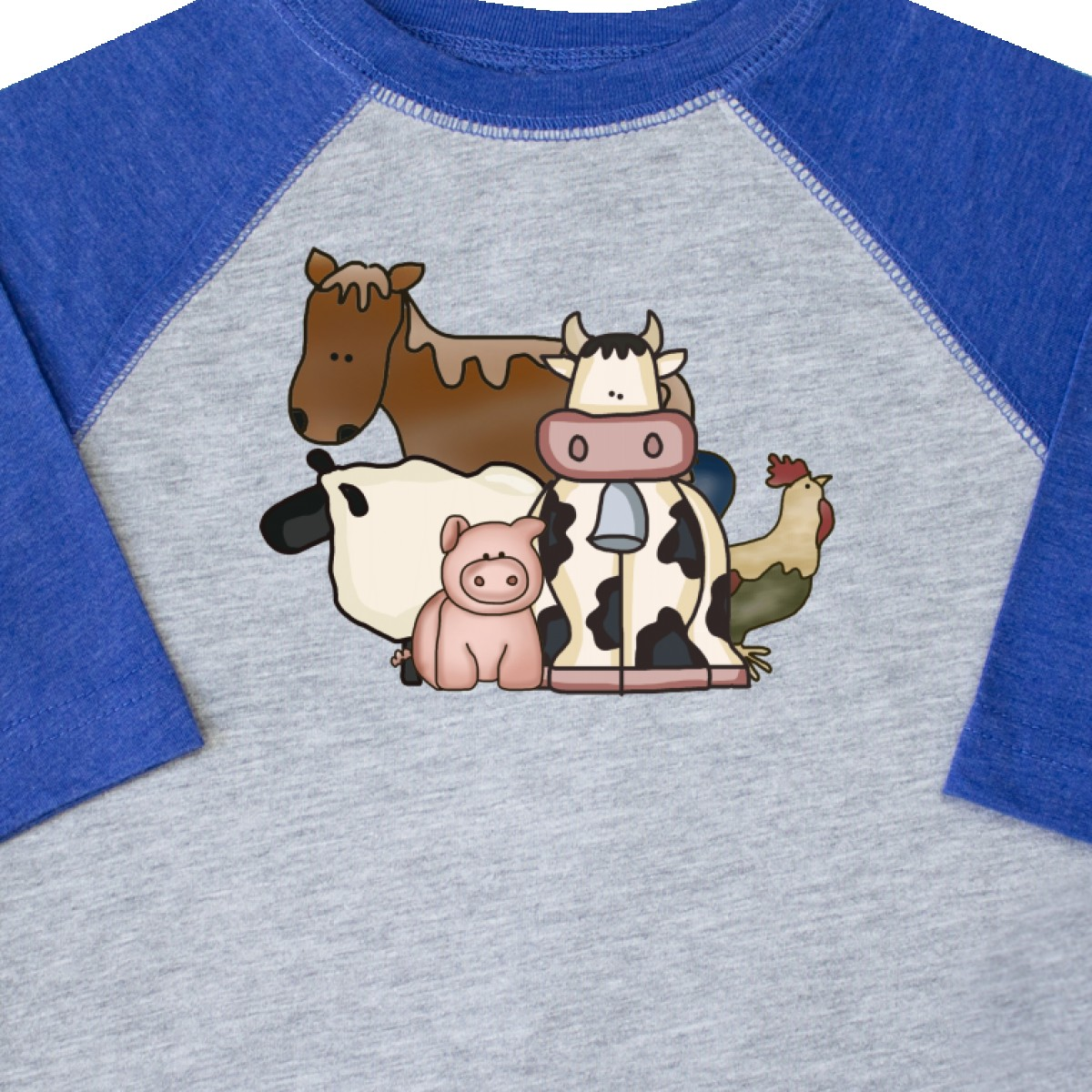 Inktastic-Critters-Toddler-T-Shirt-Horse-Sheep-Cow-Chicken-Pig-Farm-Animals-Gift thumbnail 8