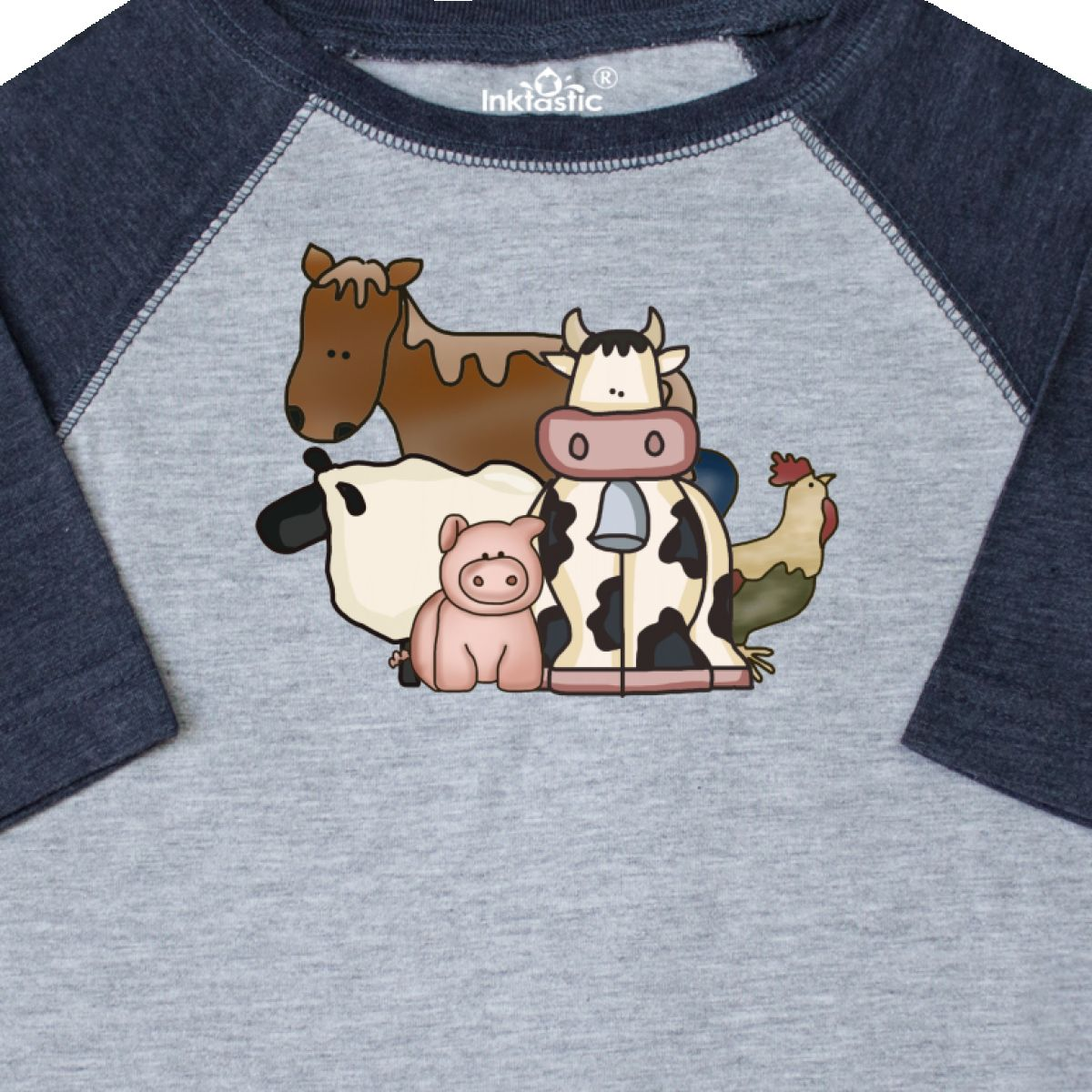 Inktastic-Critters-Toddler-T-Shirt-Horse-Sheep-Cow-Chicken-Pig-Farm-Animals-Gift thumbnail 6