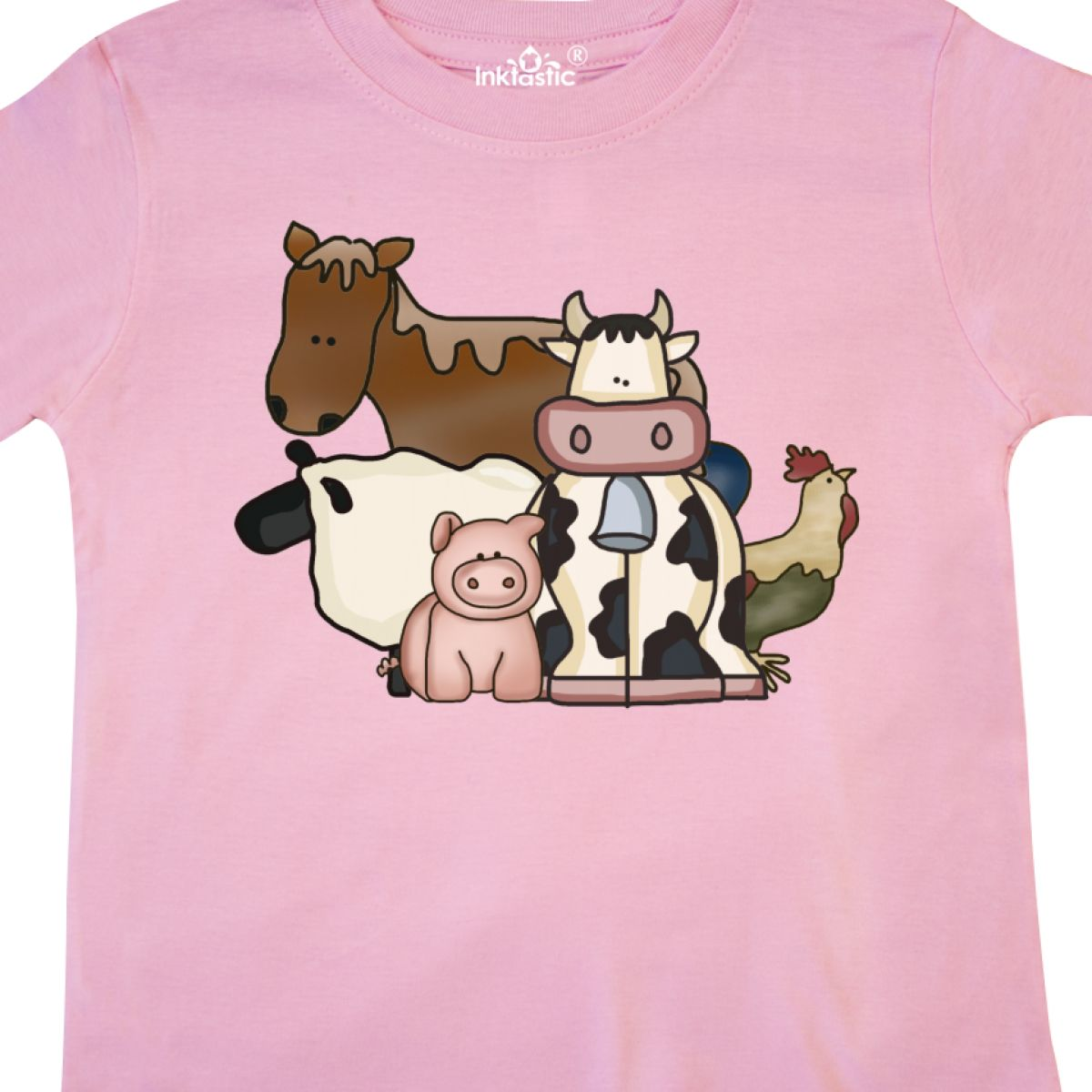 Inktastic-Critters-Toddler-T-Shirt-Horse-Sheep-Cow-Chicken-Pig-Farm-Animals-Gift thumbnail 24