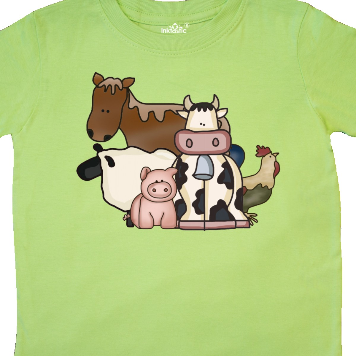 Inktastic-Critters-Toddler-T-Shirt-Horse-Sheep-Cow-Chicken-Pig-Farm-Animals-Gift thumbnail 16