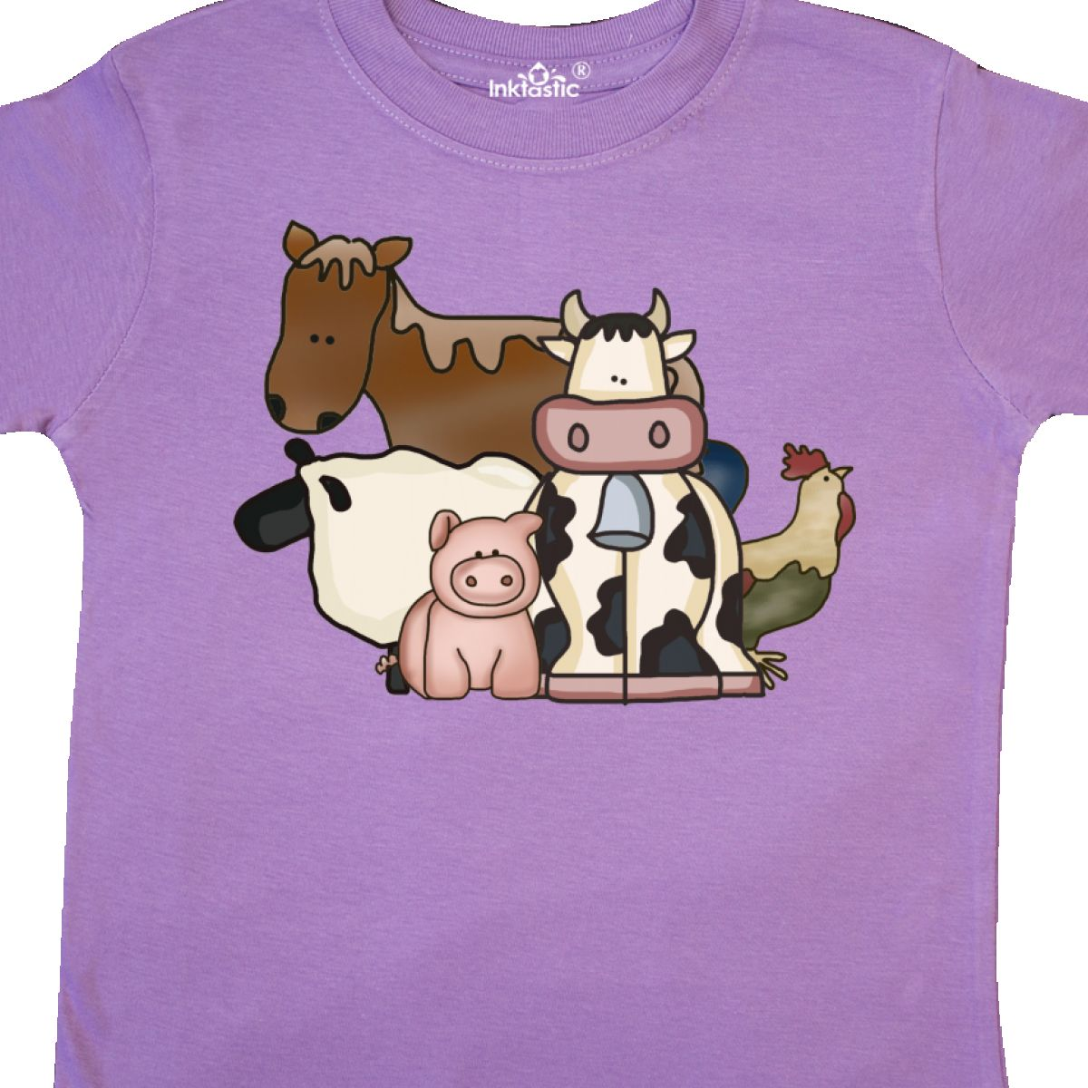 Inktastic-Critters-Toddler-T-Shirt-Horse-Sheep-Cow-Chicken-Pig-Farm-Animals-Gift thumbnail 18