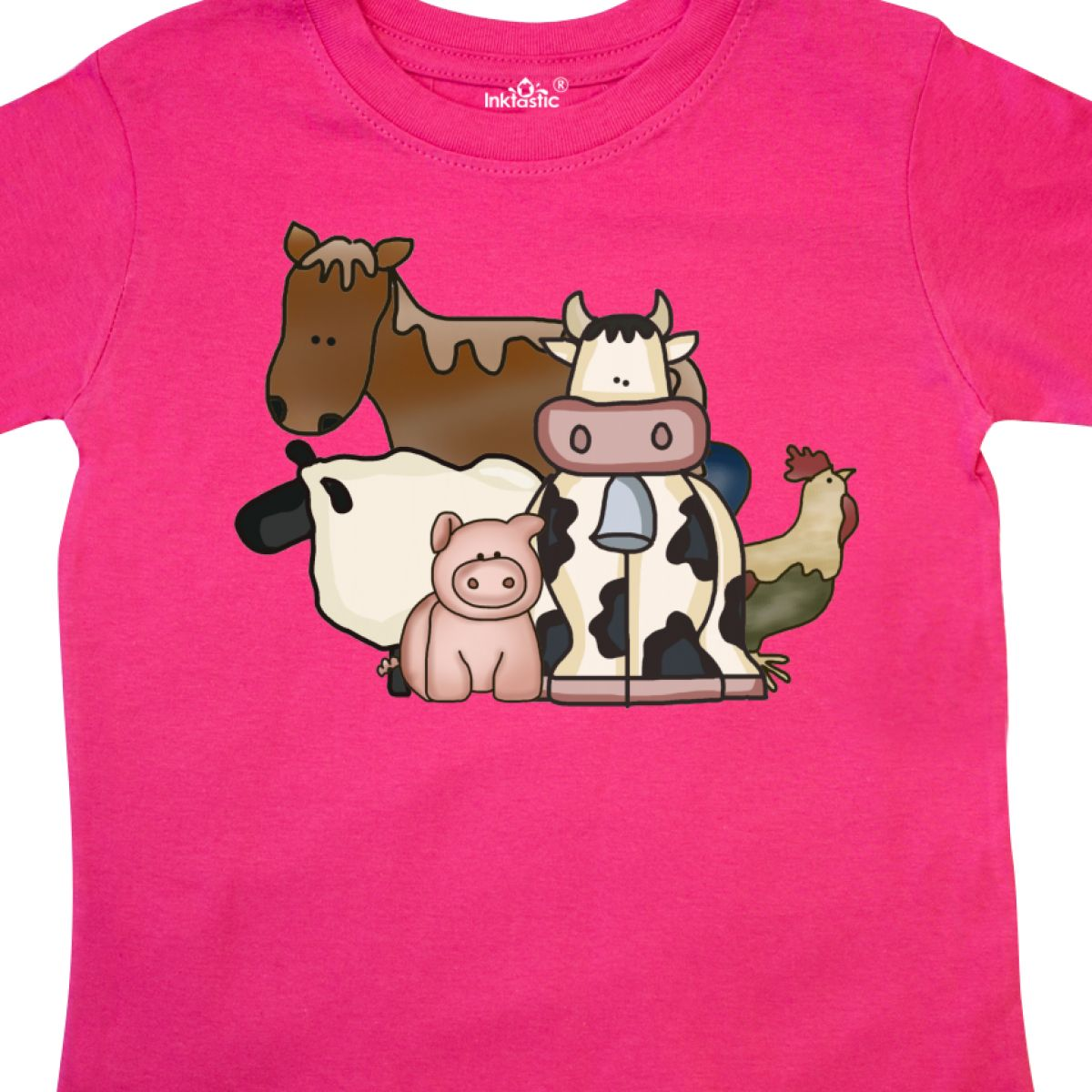 Inktastic-Critters-Toddler-T-Shirt-Horse-Sheep-Cow-Chicken-Pig-Farm-Animals-Gift thumbnail 12