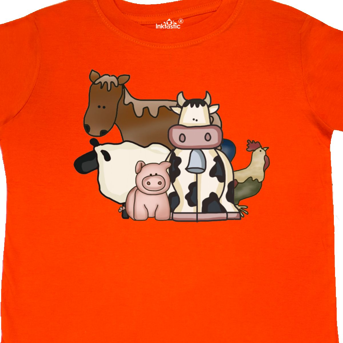 Inktastic-Critters-Toddler-T-Shirt-Horse-Sheep-Cow-Chicken-Pig-Farm-Animals-Gift thumbnail 22