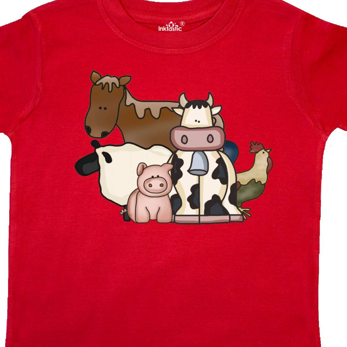 Inktastic-Critters-Toddler-T-Shirt-Horse-Sheep-Cow-Chicken-Pig-Farm-Animals-Gift thumbnail 26