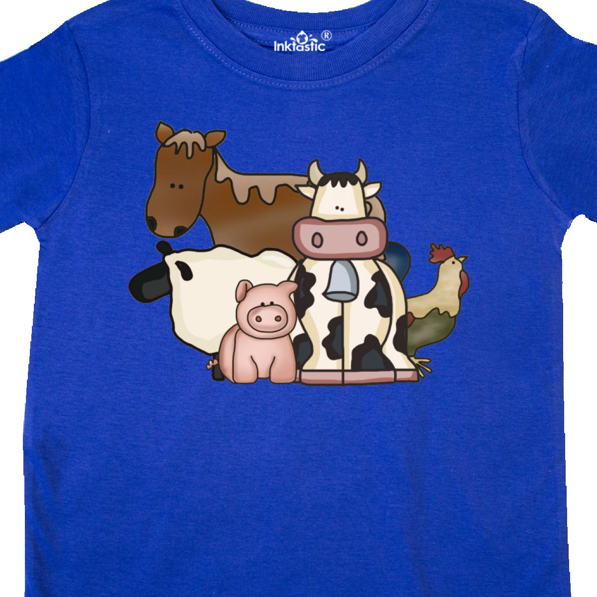 Inktastic-Critters-Toddler-T-Shirt-Horse-Sheep-Cow-Chicken-Pig-Farm-Animals-Gift thumbnail 28
