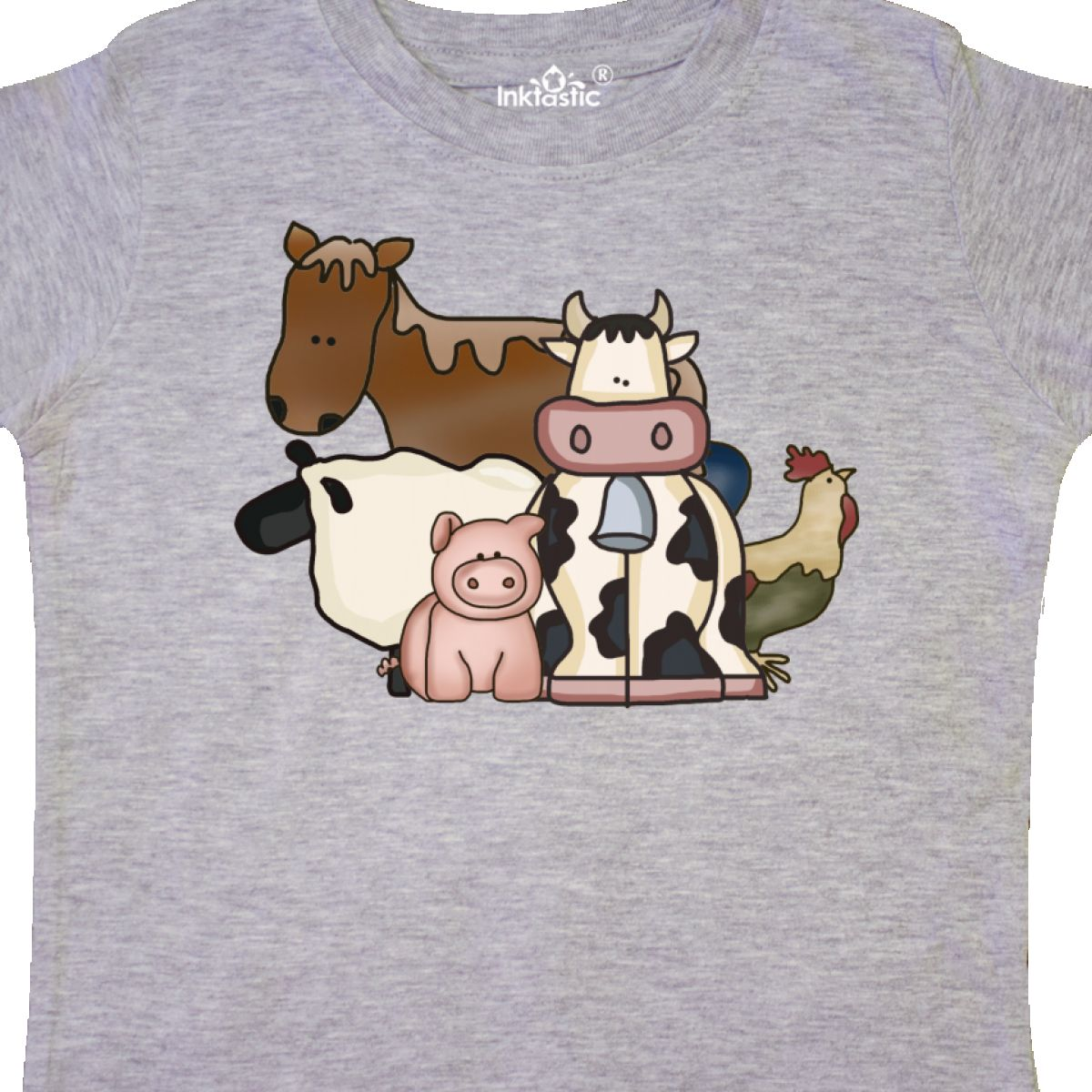 Inktastic-Critters-Toddler-T-Shirt-Horse-Sheep-Cow-Chicken-Pig-Farm-Animals-Gift thumbnail 10