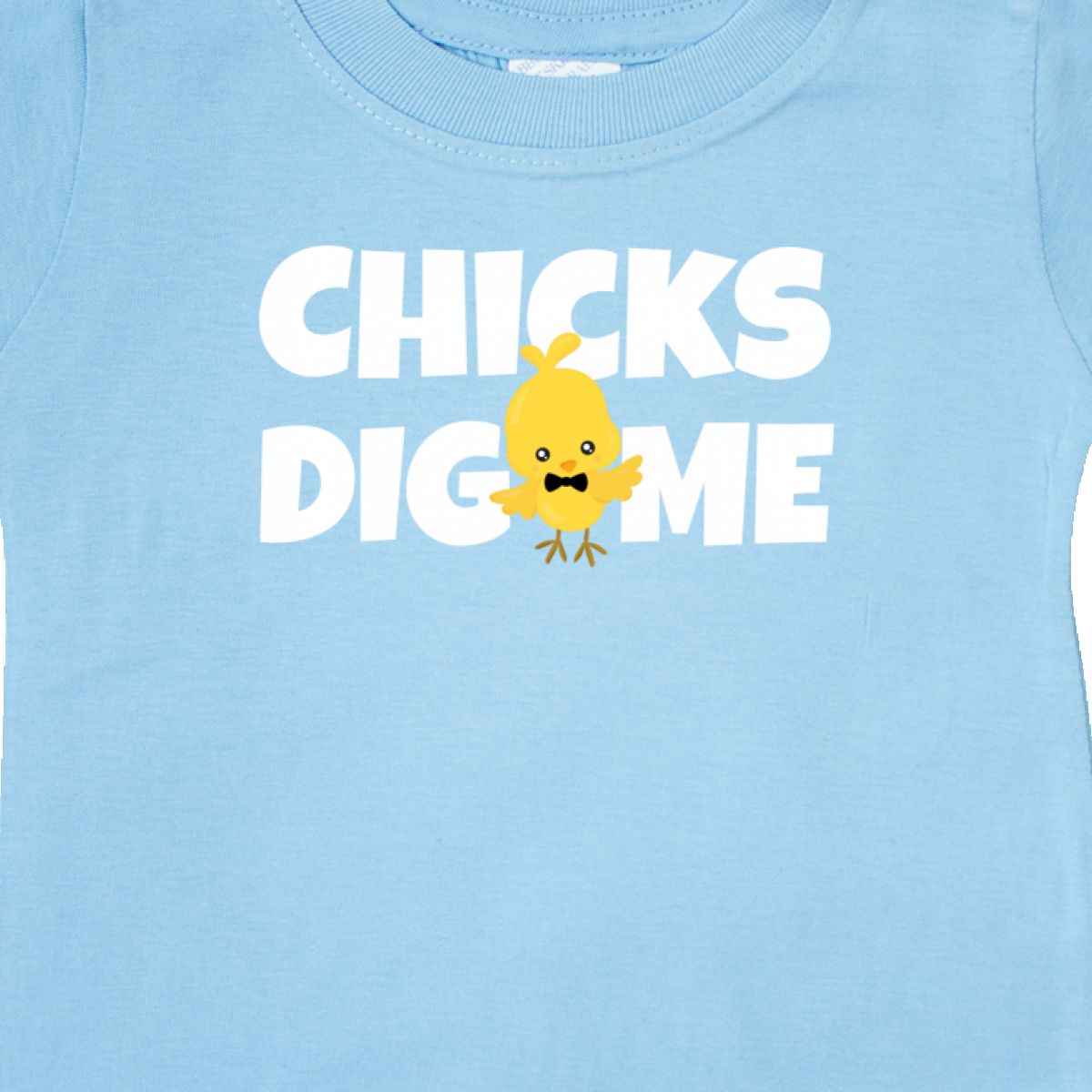 d94540f70 Inktastic Chicks Dig Me With Bow Tie Baby T-Shirt Easter Kids Chick ...