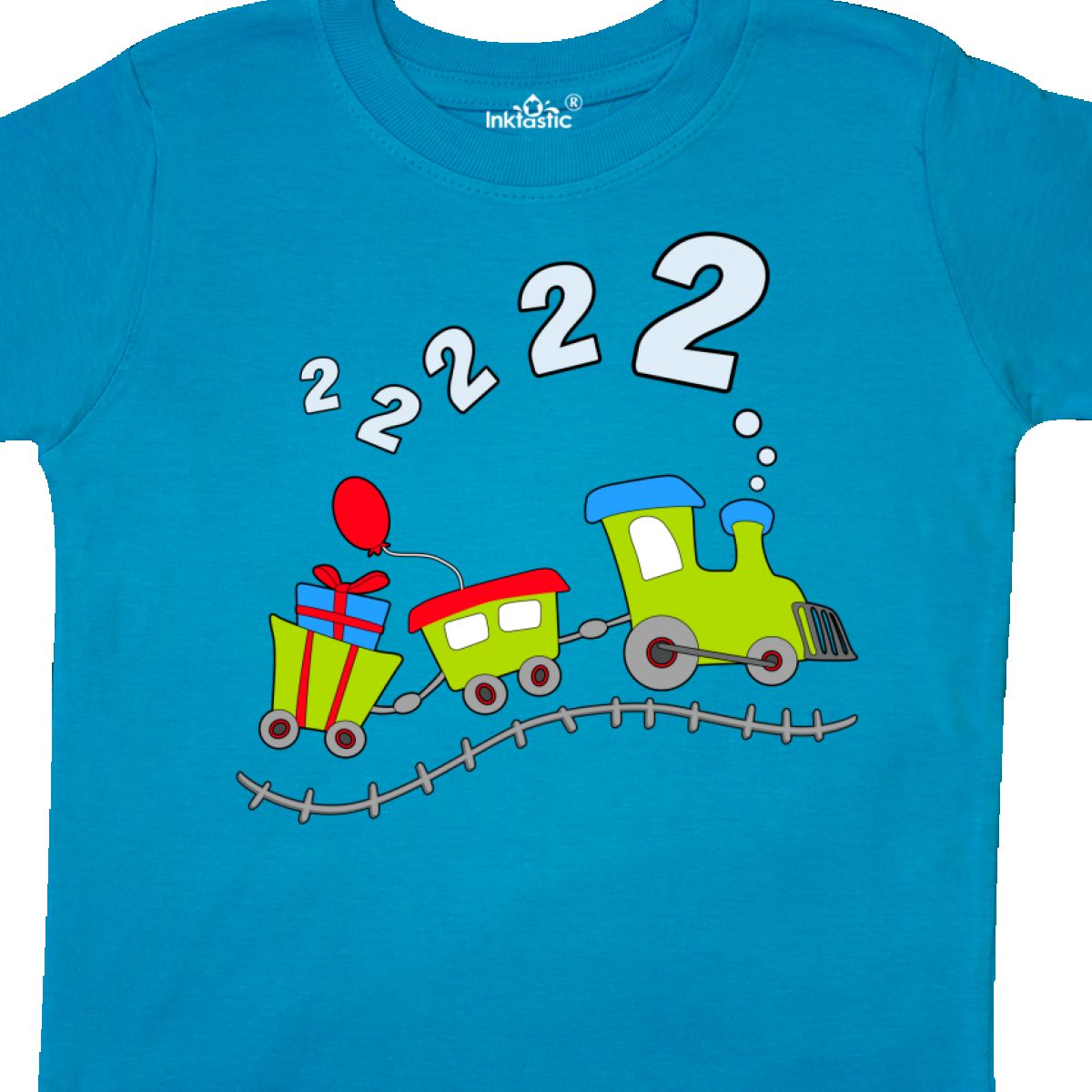 INKtastic 2nd Birthday Party Train Toddler T Shirt Birthdays Second