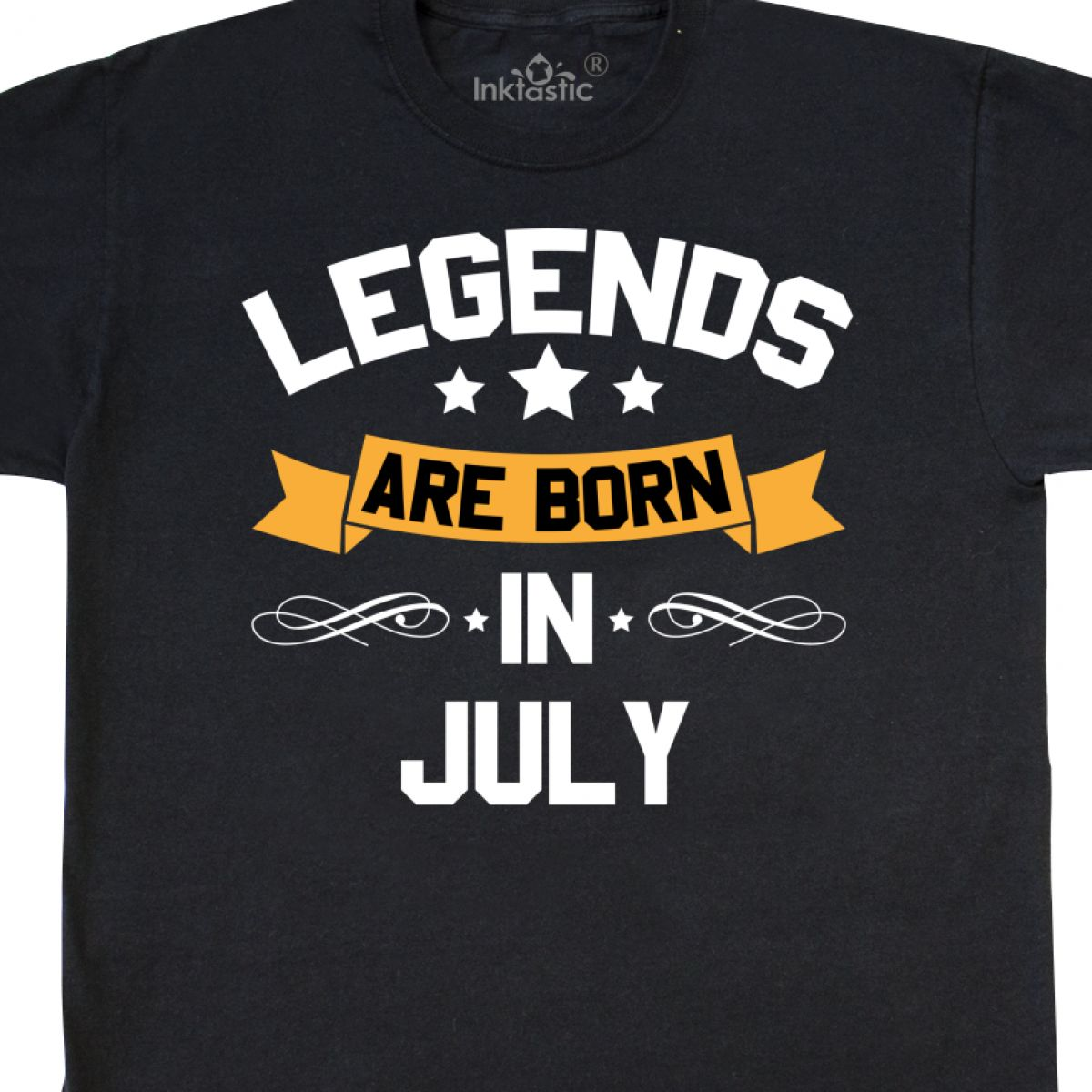 INKtastic Legends Are Born In July T Shirt Birthdays Month Birthday