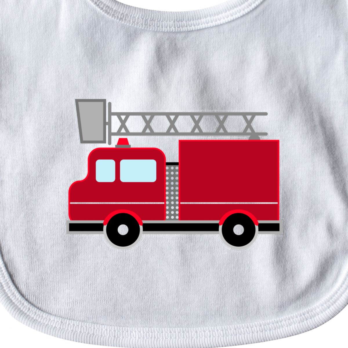 470422139d0 Inktastic Red Firefighter Fire Truck Baby Bib Firetruck Fighter Cute ...