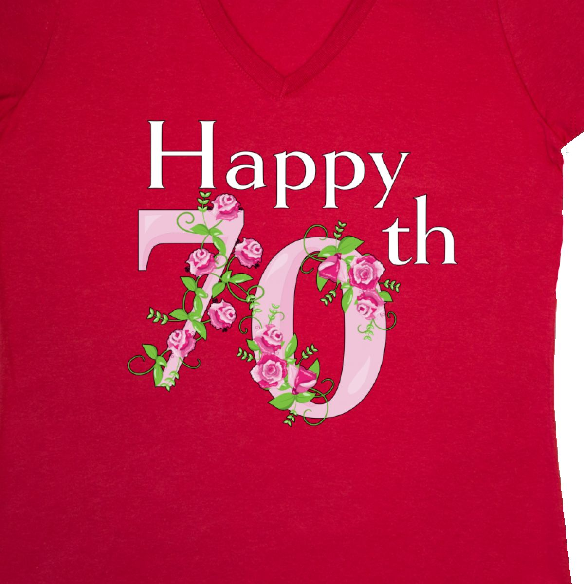 Inktastic Happy 70th Birthday With Roses Women 039