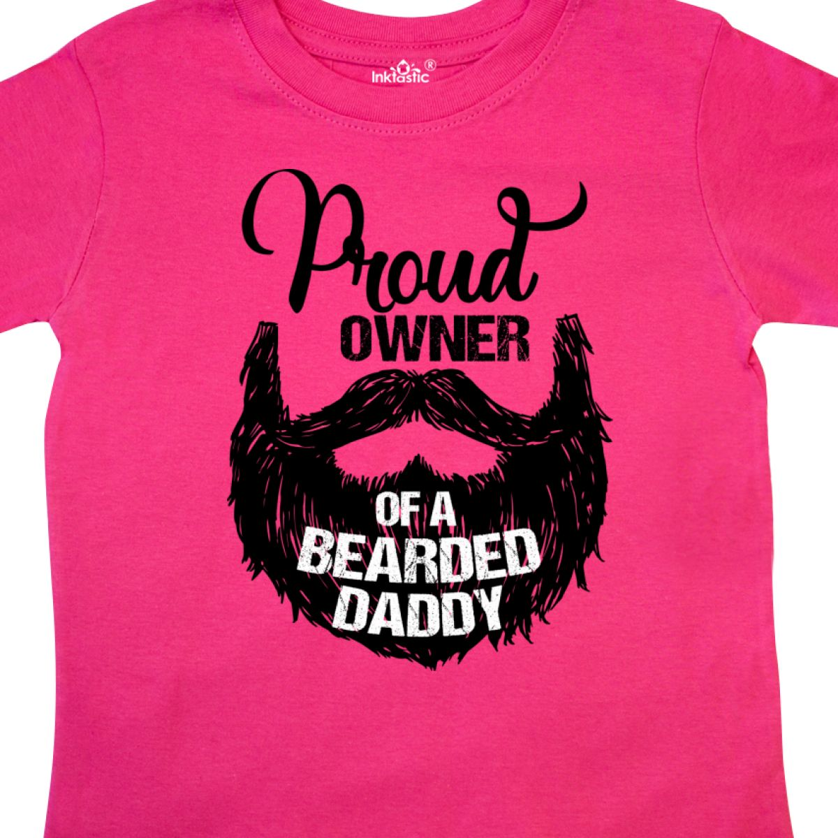 Inktastic-Proud-Owner-Of-A-Bearded-Daddy-Toddler-T-Shirt-Men-Beards-Tattoos-Baby thumbnail 6