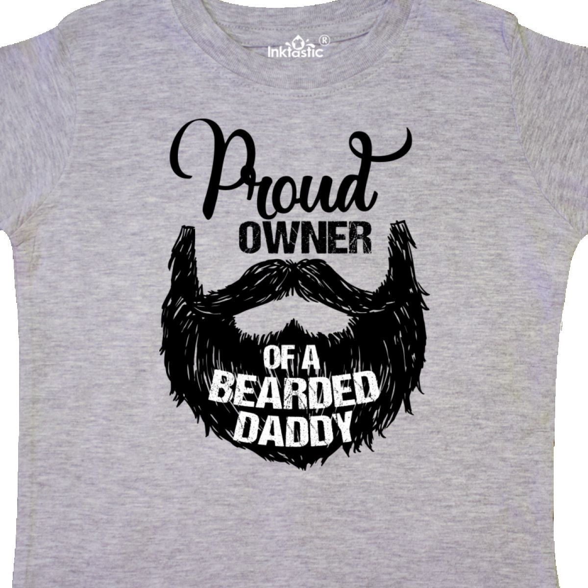 Inktastic-Proud-Owner-Of-A-Bearded-Daddy-Toddler-T-Shirt-Men-Beards-Tattoos-Baby thumbnail 4