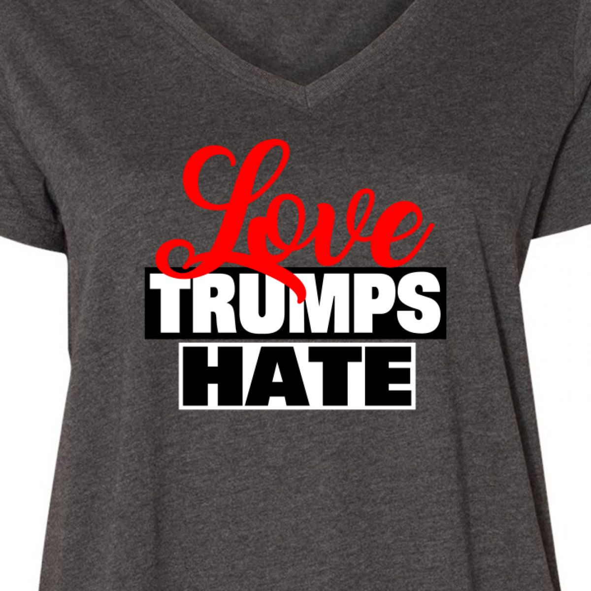 neck Curvy Plus President Tee Trump Hate Usa V Trumps Inktastic Ladies Love Size YwCAAqf