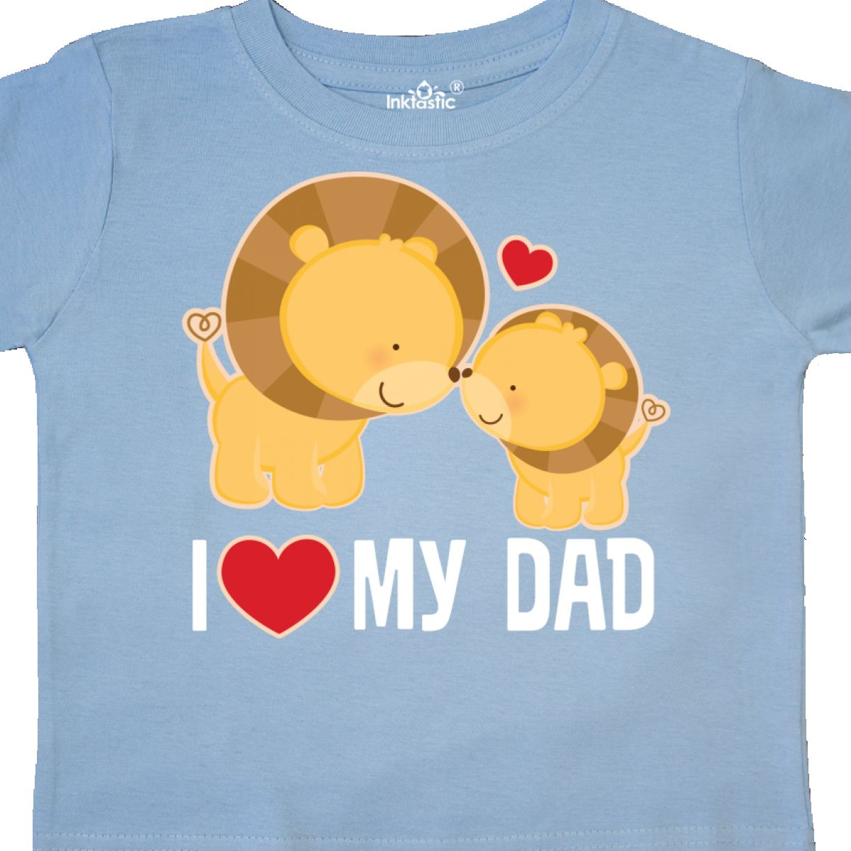9c7e1332 Inktastic Fathers Day I Love My Dad Boys Lion Toddler T-Shirt Daddy ...