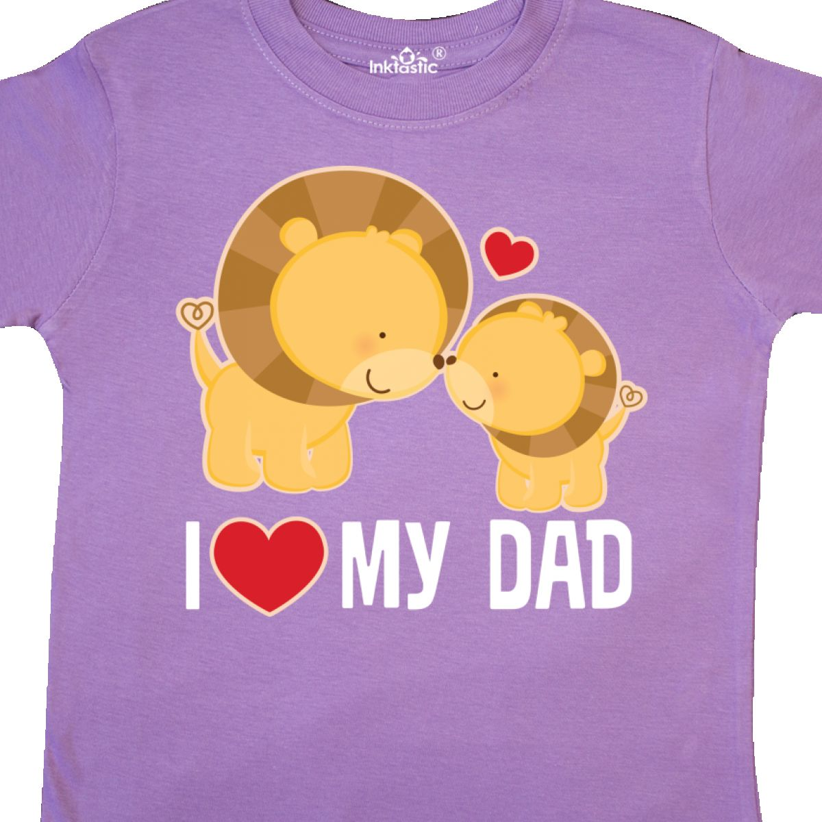 1dbfeb3e Inktastic Fathers Day I Love My Dad Boys Lion Toddler T-Shirt Daddy ...
