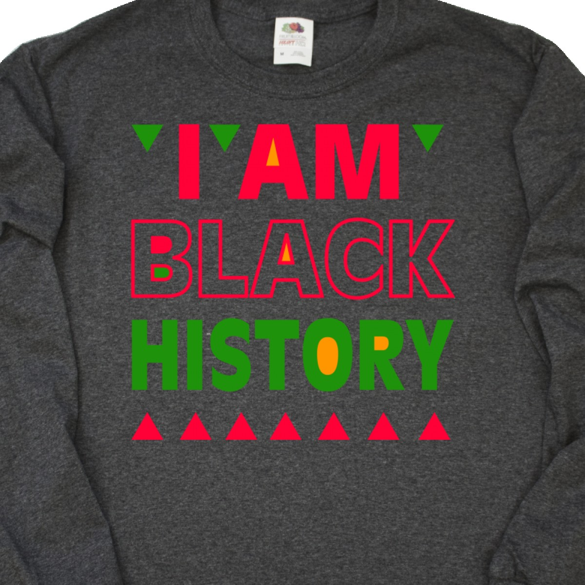 4901c57df39 Inktastic I Am Black History Long Sleeve T-Shirt Month Celebrate ...