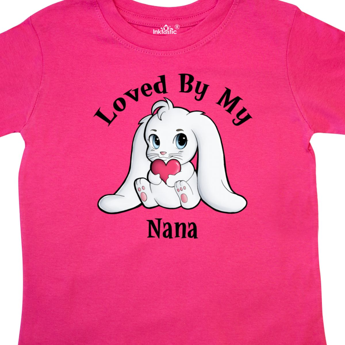 Inktastic-Loved-By-My-Nana-Bunny-Rabbit-Toddler-T-Shirt-Love-Valentines-Day-Baby thumbnail 4