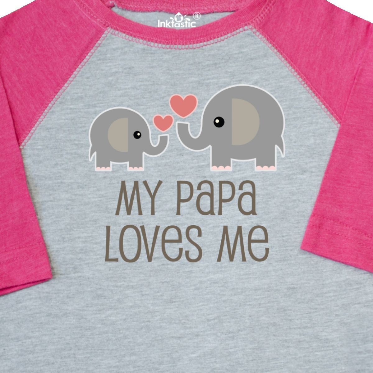 Inktastic-My-Papa-Loves-Me-Grandchild-Toddler-T-Shirt-Gift-From-Grandpa-Elephant thumbnail 4
