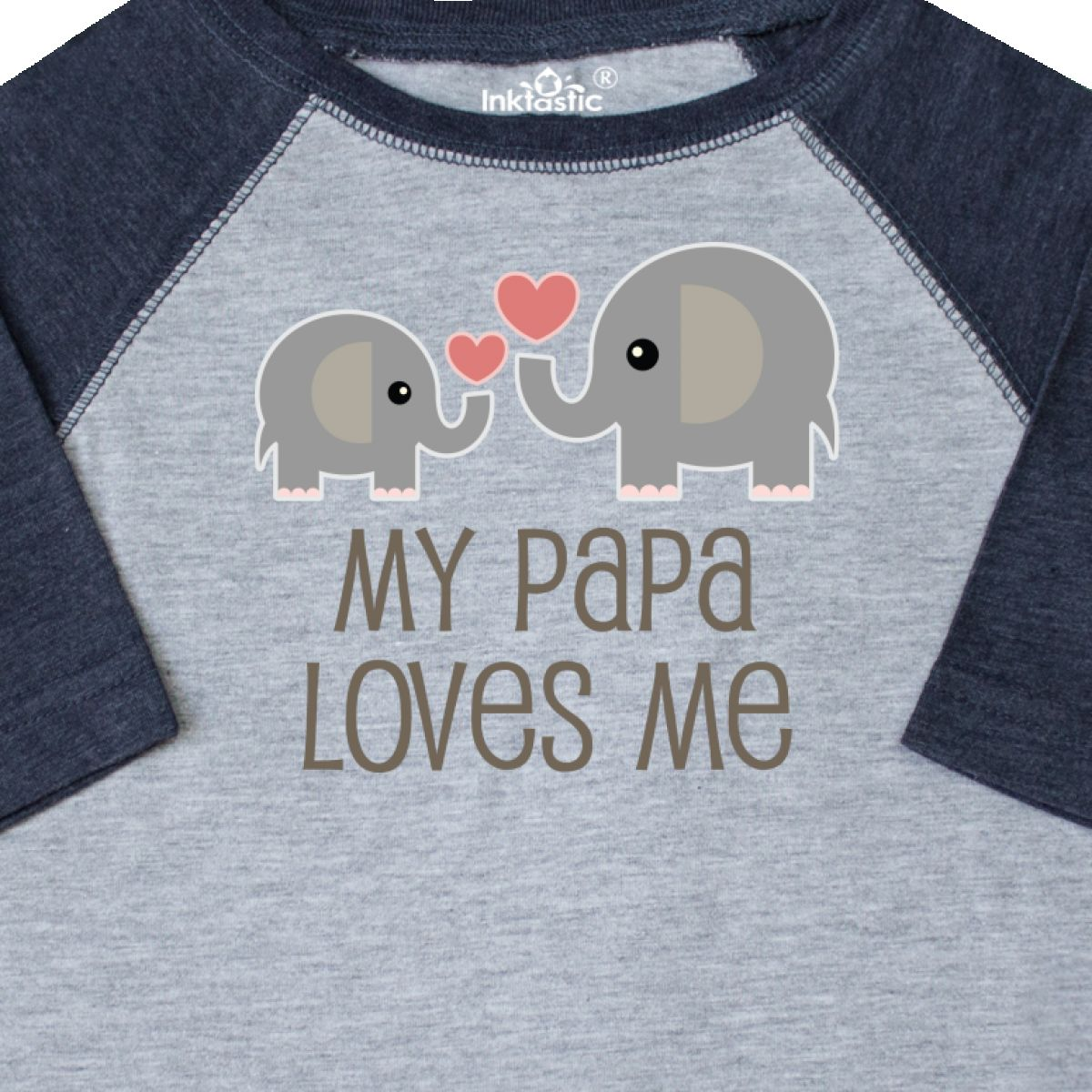 Inktastic-My-Papa-Loves-Me-Grandchild-Toddler-T-Shirt-Gift-From-Grandpa-Elephant thumbnail 6