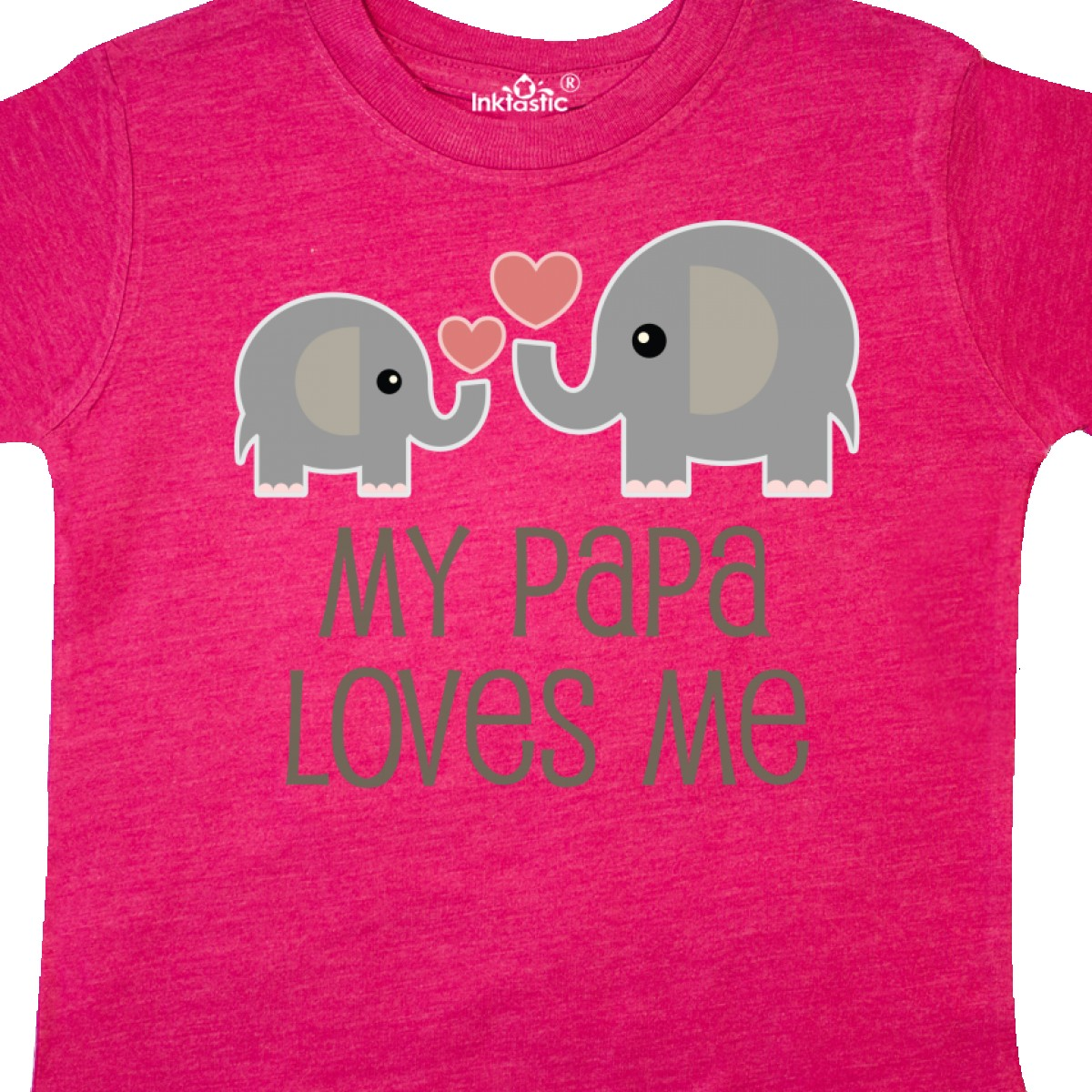 Inktastic-My-Papa-Loves-Me-Grandchild-Toddler-T-Shirt-Gift-From-Grandpa-Elephant thumbnail 14