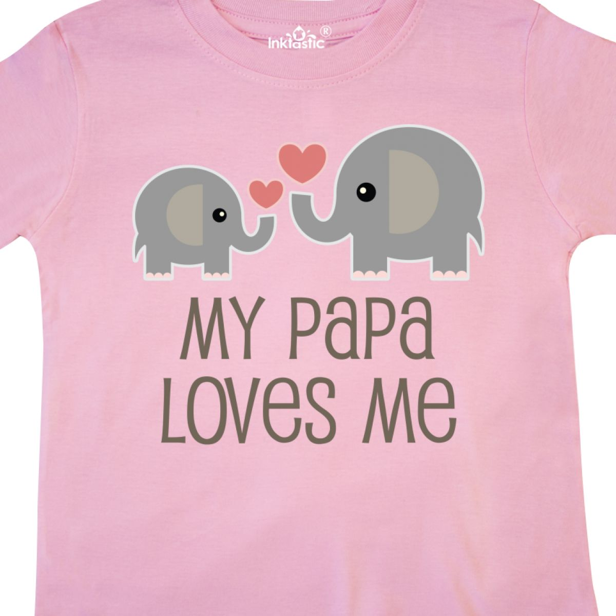 Inktastic-My-Papa-Loves-Me-Grandchild-Toddler-T-Shirt-Gift-From-Grandpa-Elephant thumbnail 10