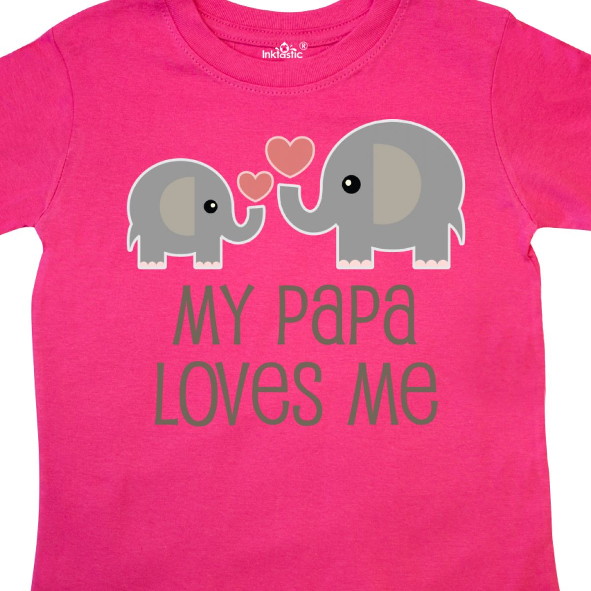 Inktastic-My-Papa-Loves-Me-Grandchild-Toddler-T-Shirt-Gift-From-Grandpa-Elephant thumbnail 8
