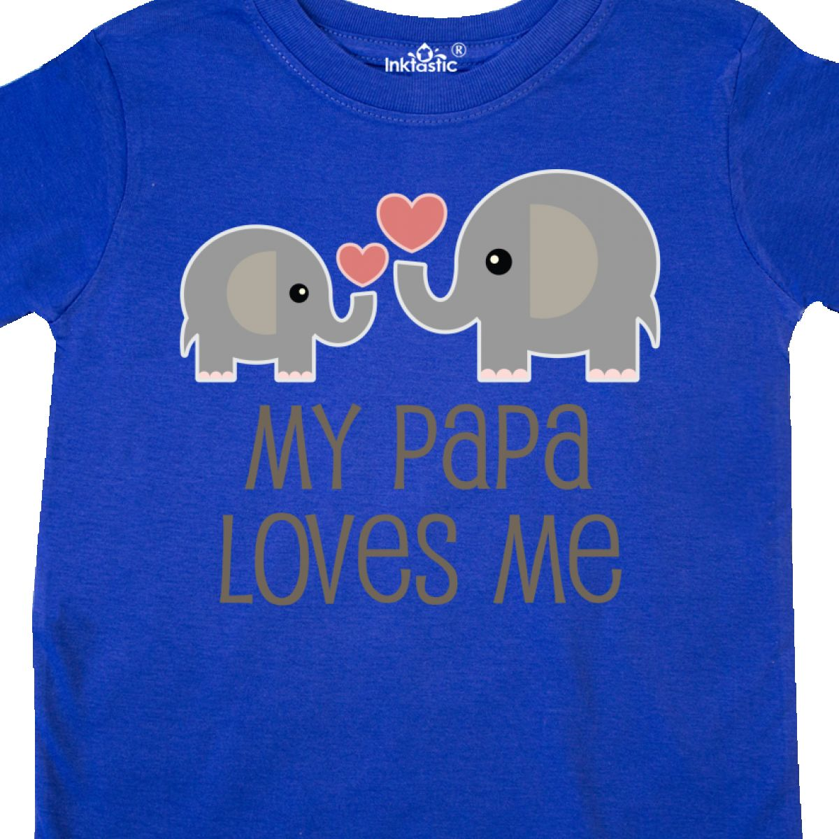 Inktastic-My-Papa-Loves-Me-Grandchild-Toddler-T-Shirt-Gift-From-Grandpa-Elephant thumbnail 16