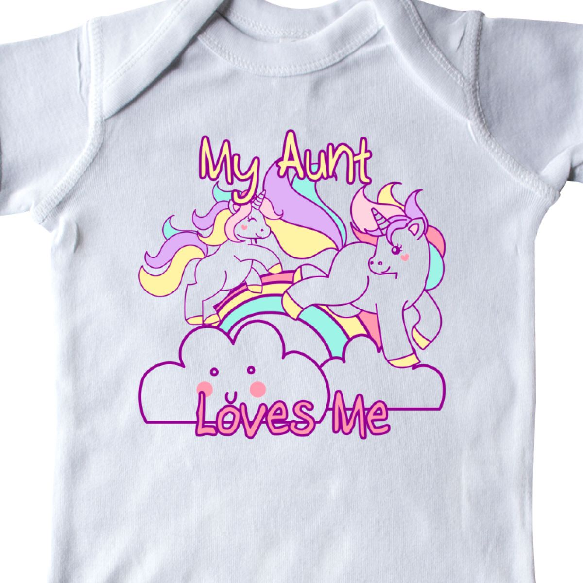 8d2a4bf0d Inktastic My Aunt Loves Me Unicorn Infant Creeper Cute One-piece | eBay
