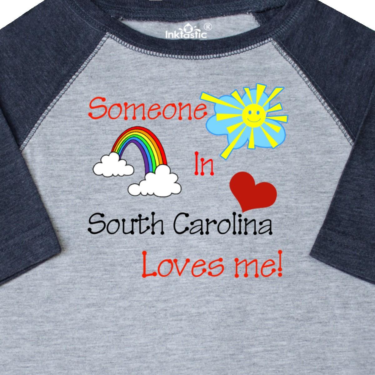 Inktastic-Someone-In-South-Carolina-Loves-Me-Toddler-T-Shirt-Love-Me-Rainbow thumbnail 4