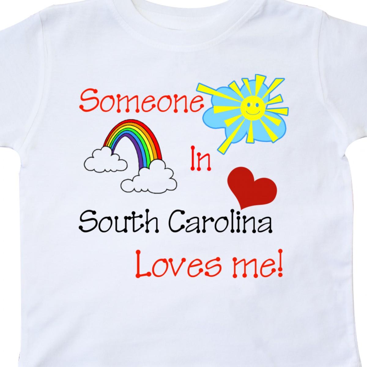 Inktastic-Someone-In-South-Carolina-Loves-Me-Toddler-T-Shirt-Love-Me-Rainbow thumbnail 8