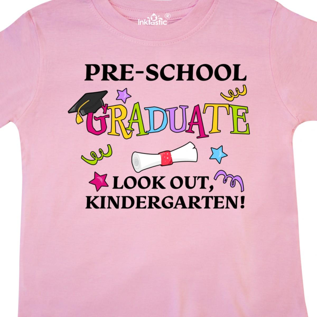 Inktastic-Pre-School-Graduate-Look-Out-Kindergarten-Toddler-T-Shirt-Graduation thumbnail 8