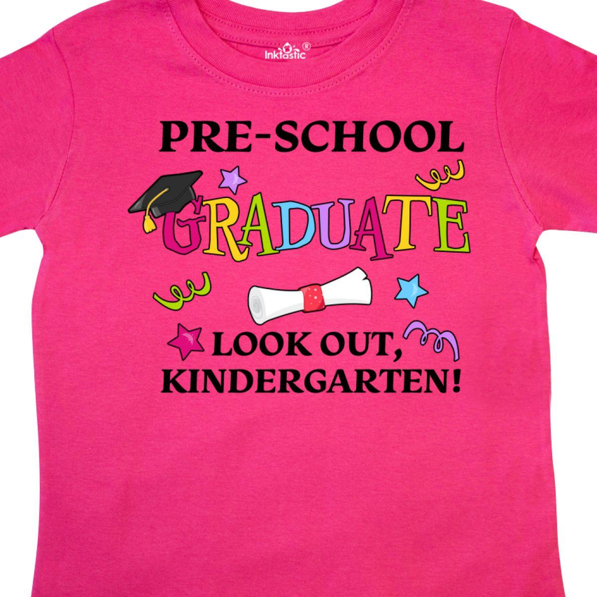 Inktastic-Pre-School-Graduate-Look-Out-Kindergarten-Toddler-T-Shirt-Graduation thumbnail 6