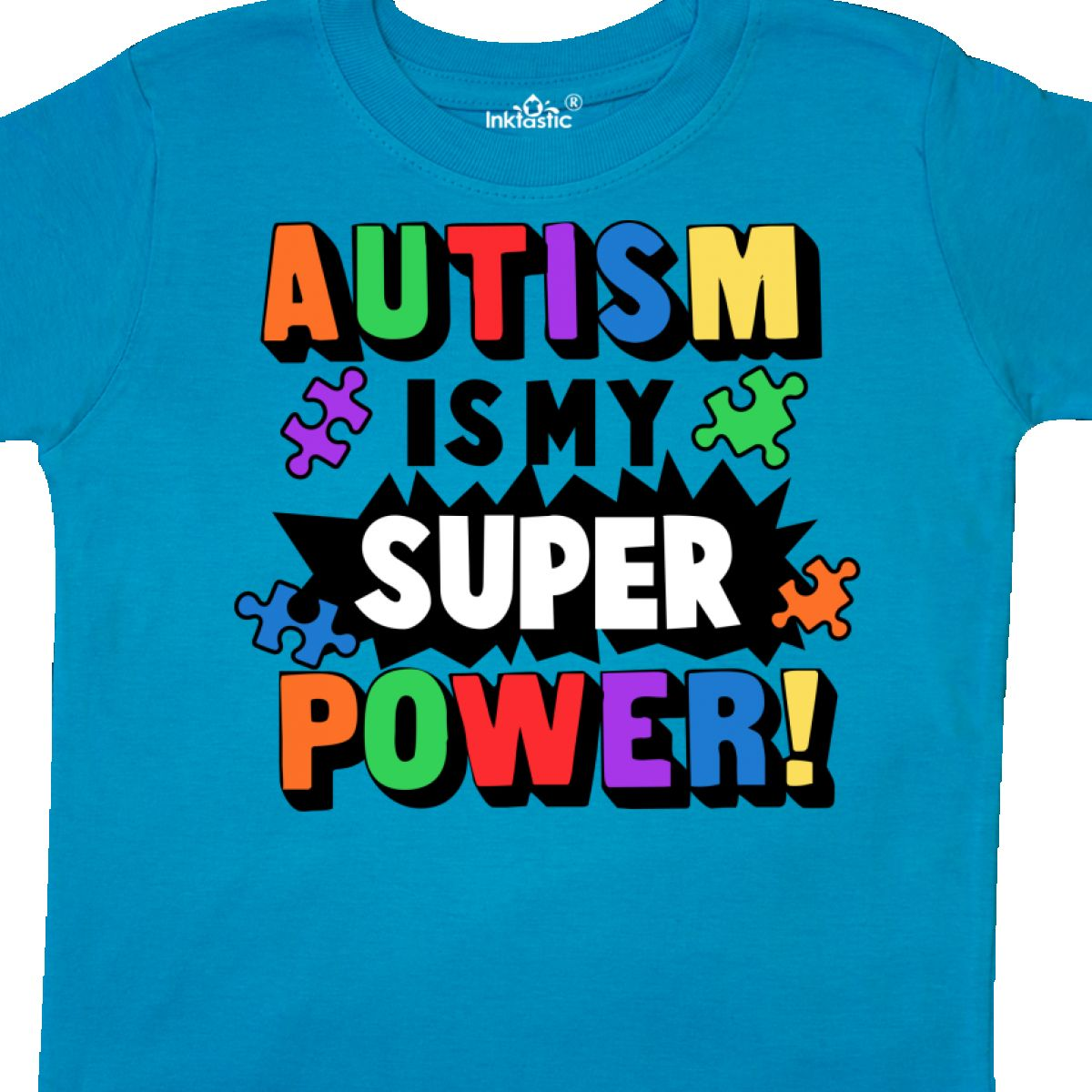 Inktastic-Autism-Is-My-Super-Power-With-Puzzle-Pieces-Toddler-T-Shirt-Awareness thumbnail 20