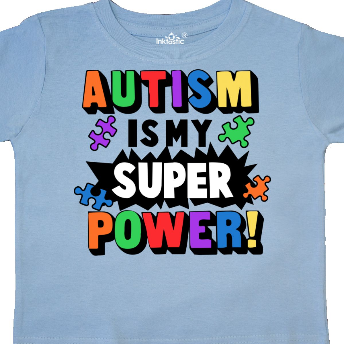 Inktastic-Autism-Is-My-Super-Power-With-Puzzle-Pieces-Toddler-T-Shirt-Awareness thumbnail 12