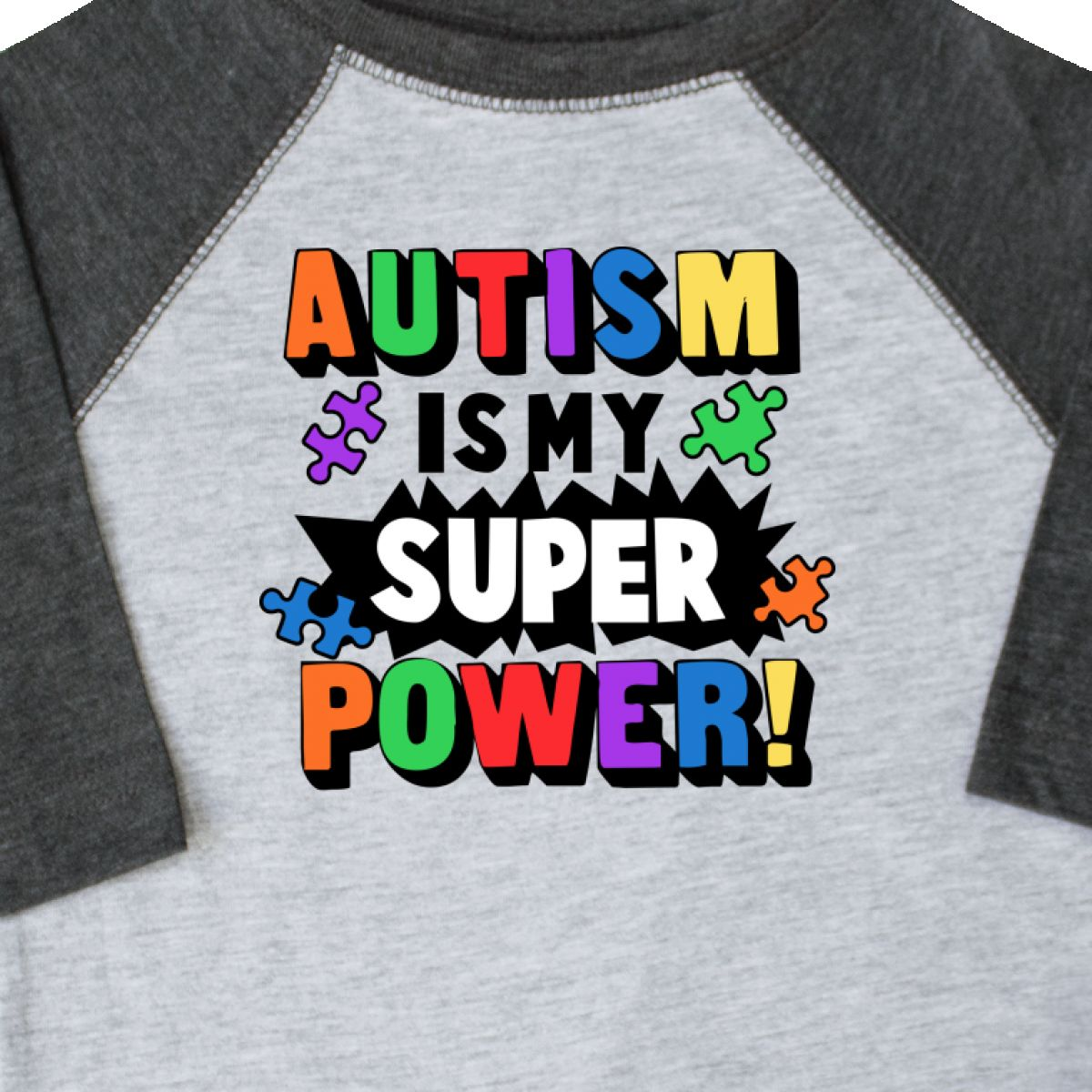 Inktastic-Autism-Is-My-Super-Power-With-Puzzle-Pieces-Toddler-T-Shirt-Awareness thumbnail 4
