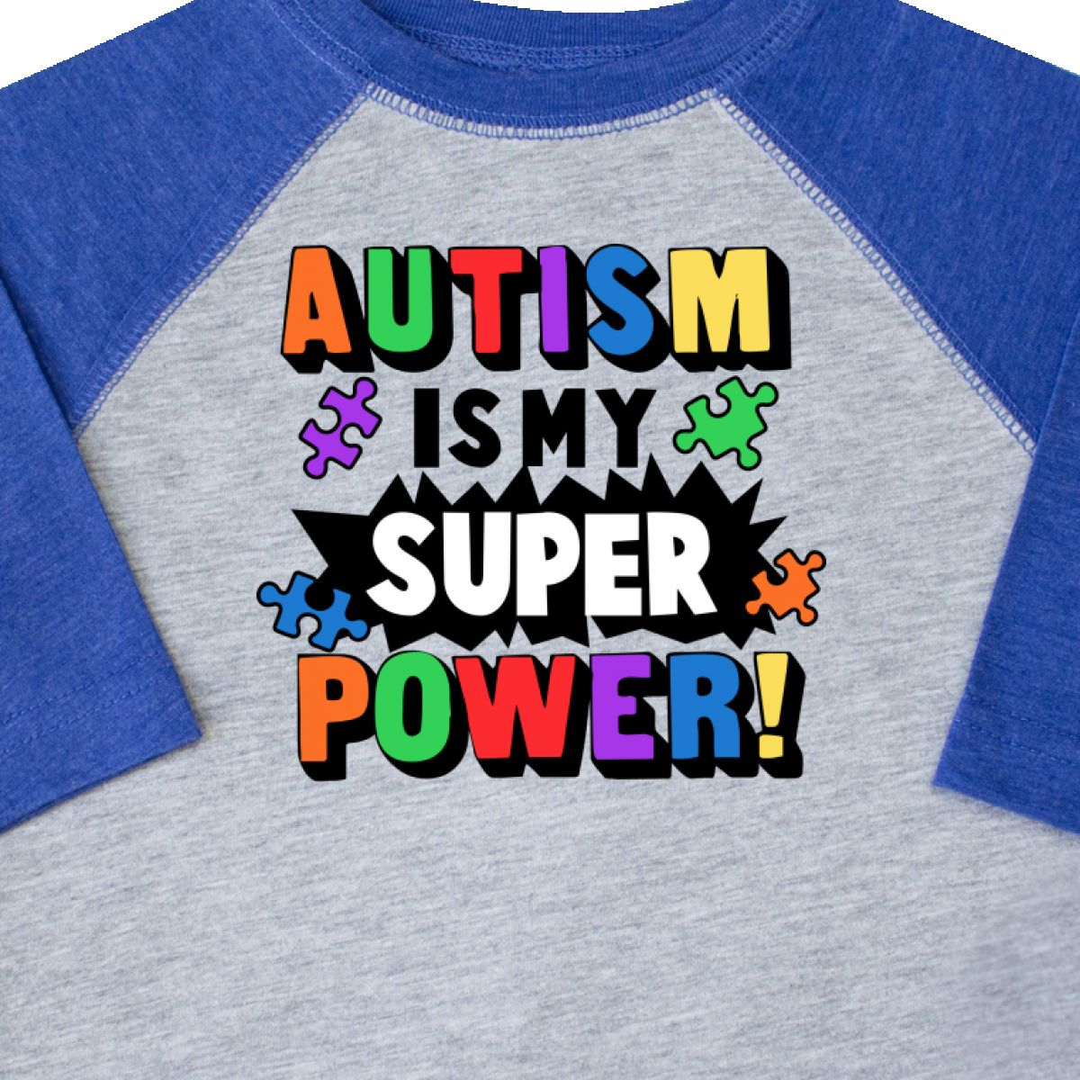 Inktastic-Autism-Is-My-Super-Power-With-Puzzle-Pieces-Toddler-T-Shirt-Awareness thumbnail 8