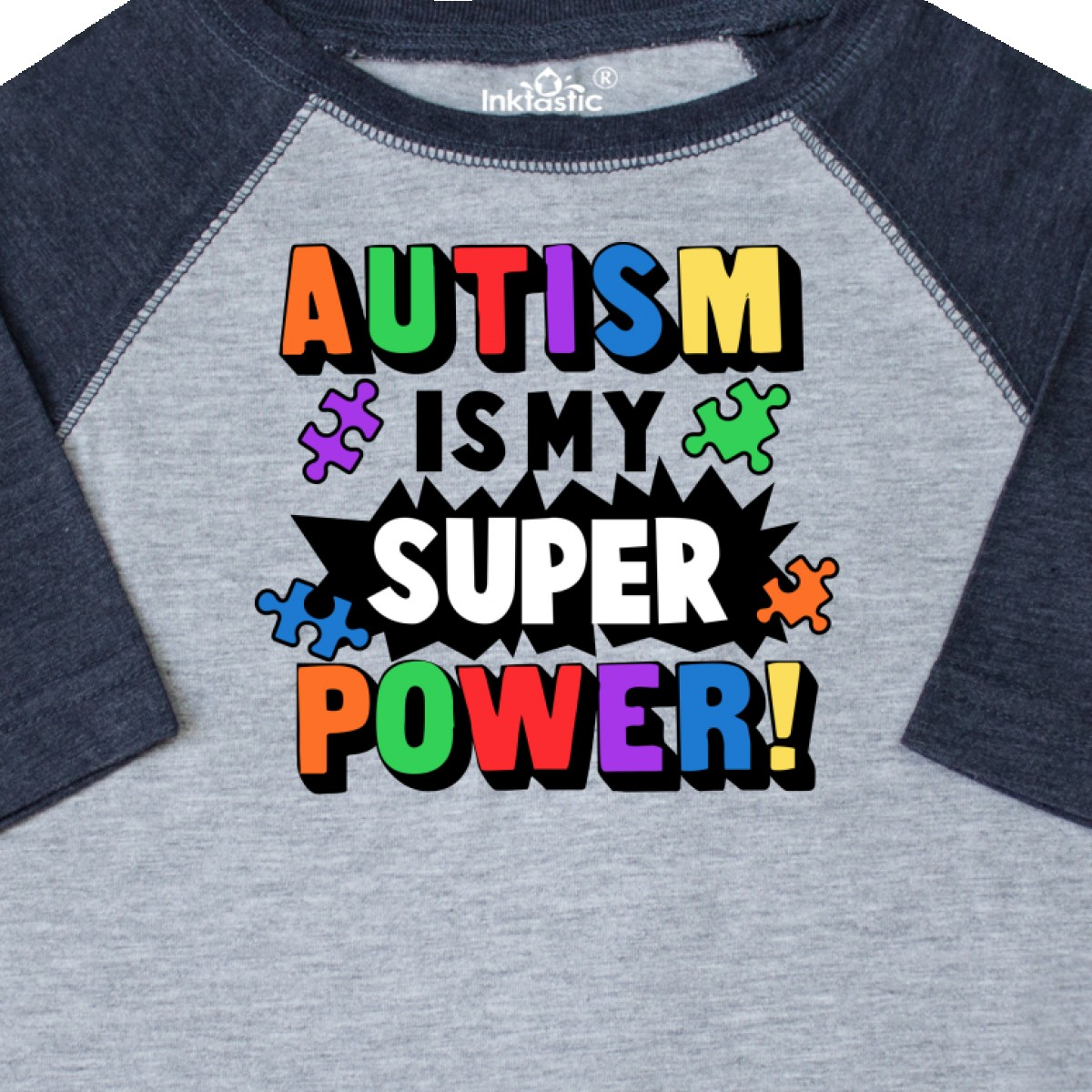 Inktastic-Autism-Is-My-Super-Power-With-Puzzle-Pieces-Toddler-T-Shirt-Awareness thumbnail 6