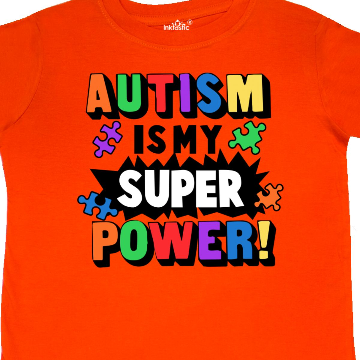 Inktastic-Autism-Is-My-Super-Power-With-Puzzle-Pieces-Toddler-T-Shirt-Awareness thumbnail 14