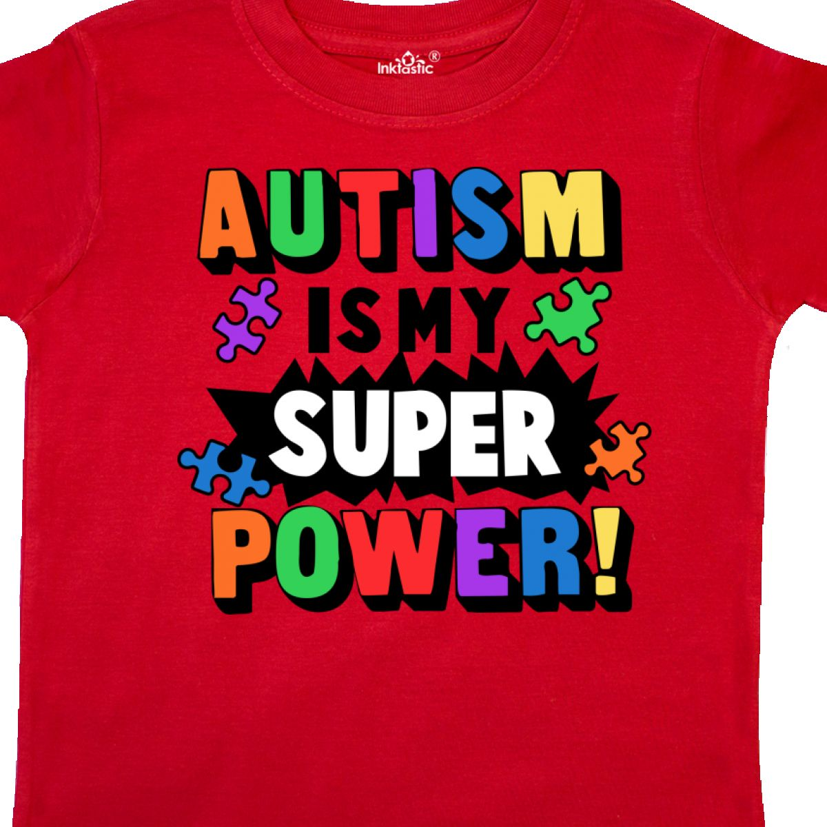 Inktastic-Autism-Is-My-Super-Power-With-Puzzle-Pieces-Toddler-T-Shirt-Awareness thumbnail 16