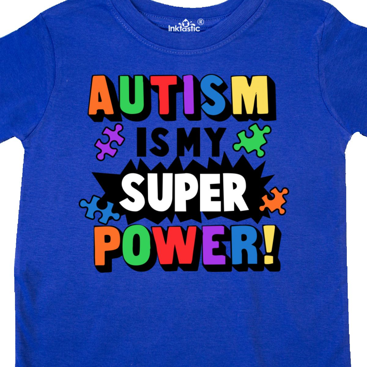 Inktastic-Autism-Is-My-Super-Power-With-Puzzle-Pieces-Toddler-T-Shirt-Awareness thumbnail 18