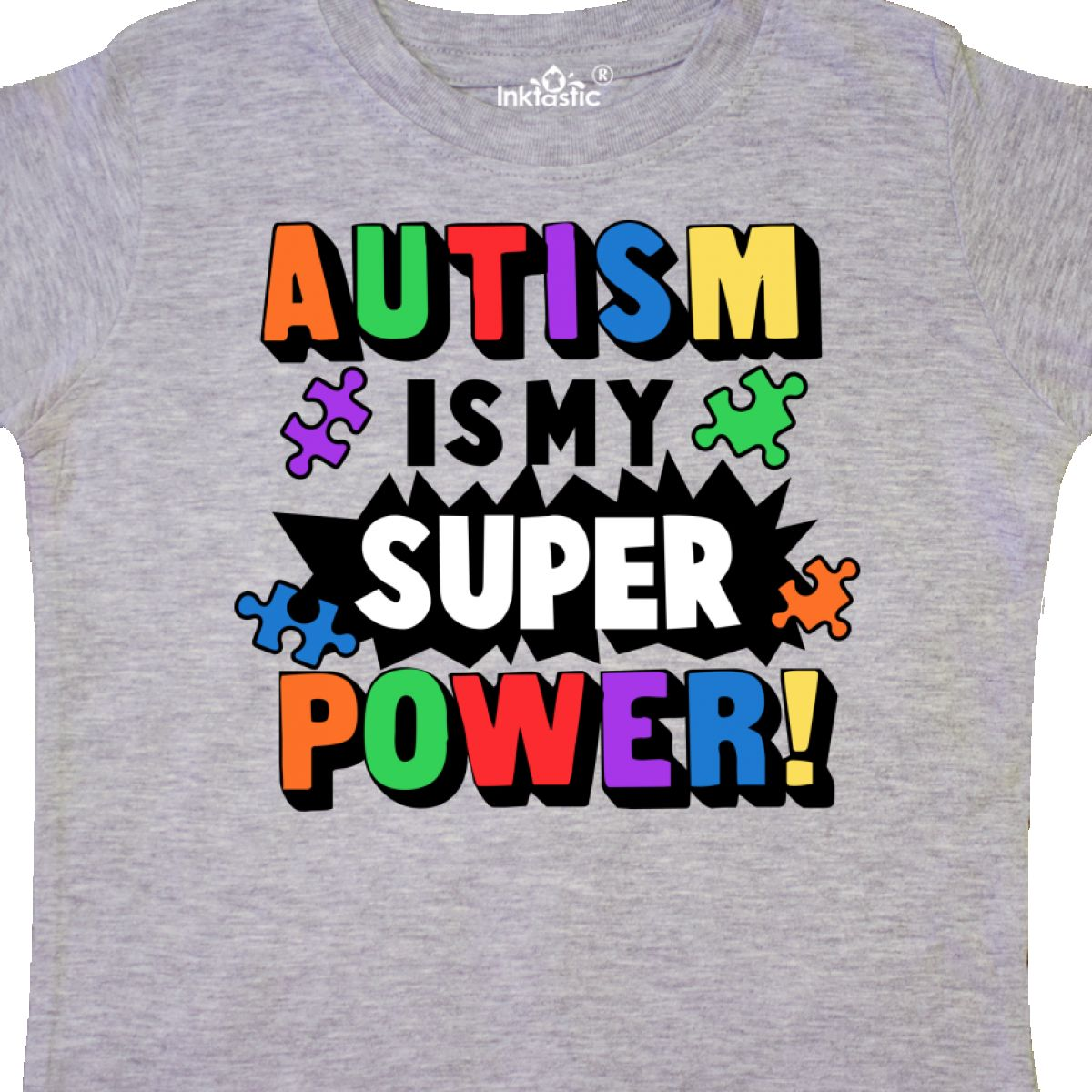 Inktastic-Autism-Is-My-Super-Power-With-Puzzle-Pieces-Toddler-T-Shirt-Awareness thumbnail 10