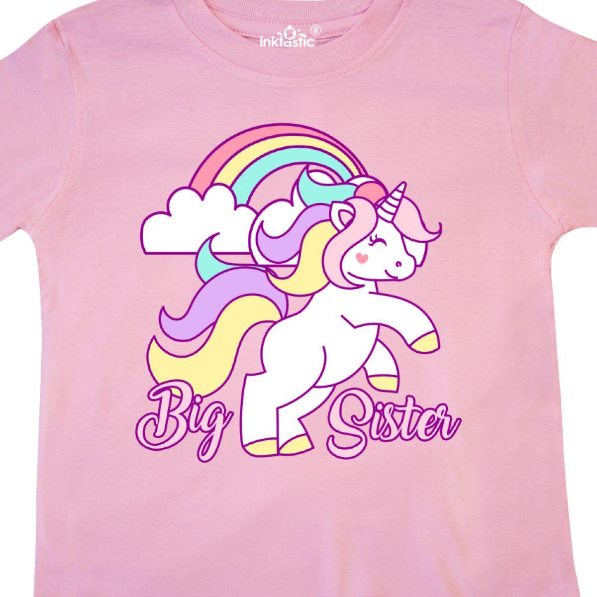 Inktastic-Big-Sister-Unicorn-Toddler-T-Shirt-Fantasy-Happy-Child-Preschooler-Kid thumbnail 8