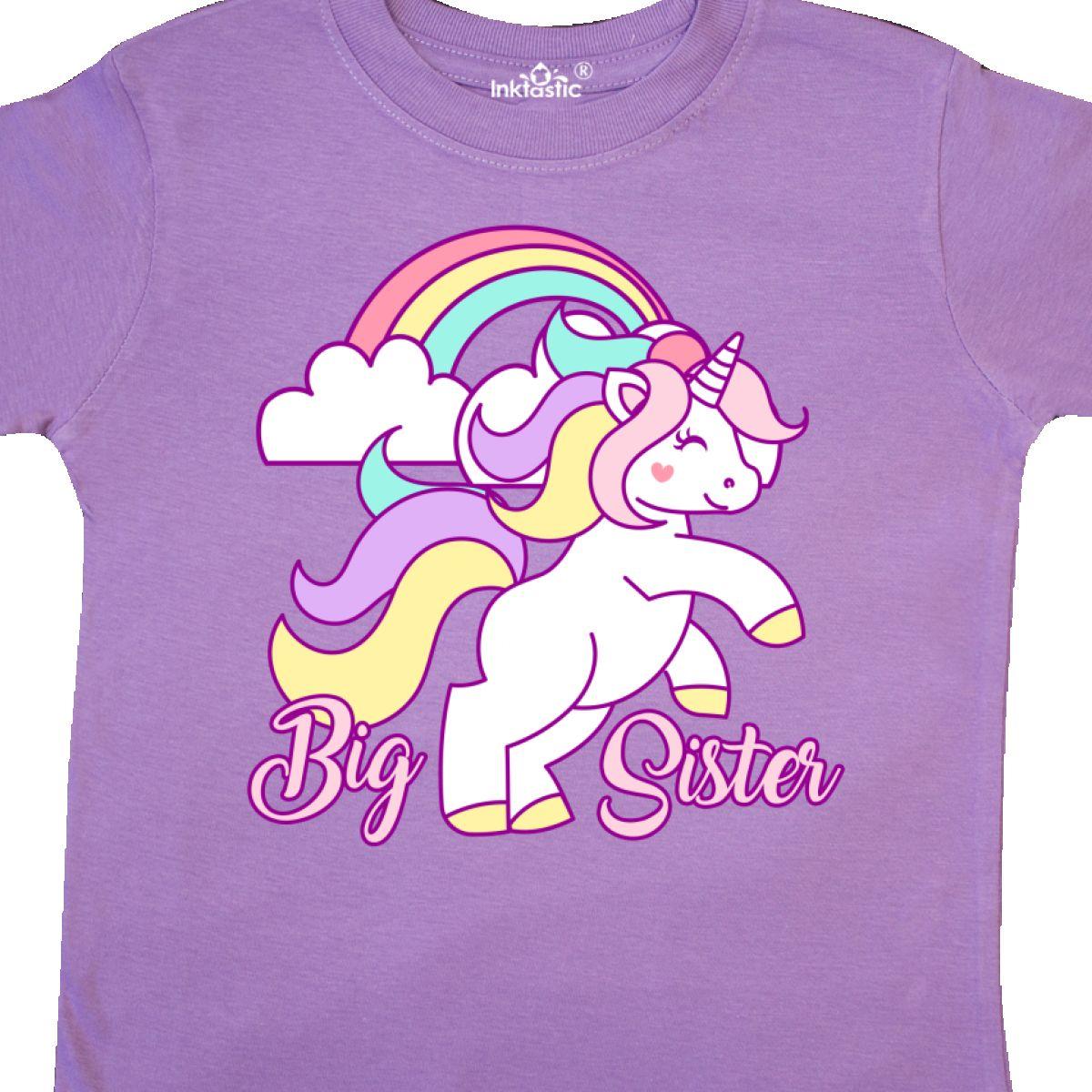 Inktastic-Big-Sister-Unicorn-Toddler-T-Shirt-Fantasy-Happy-Child-Preschooler-Kid thumbnail 6