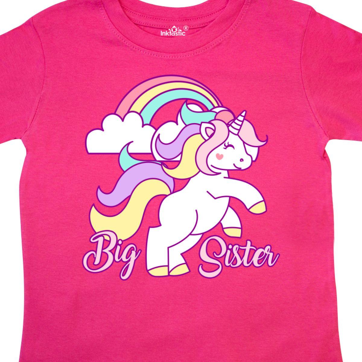 Inktastic-Big-Sister-Unicorn-Toddler-T-Shirt-Fantasy-Happy-Child-Preschooler-Kid thumbnail 4
